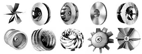 Centrifugal on Centrifugal Fan Blade Types